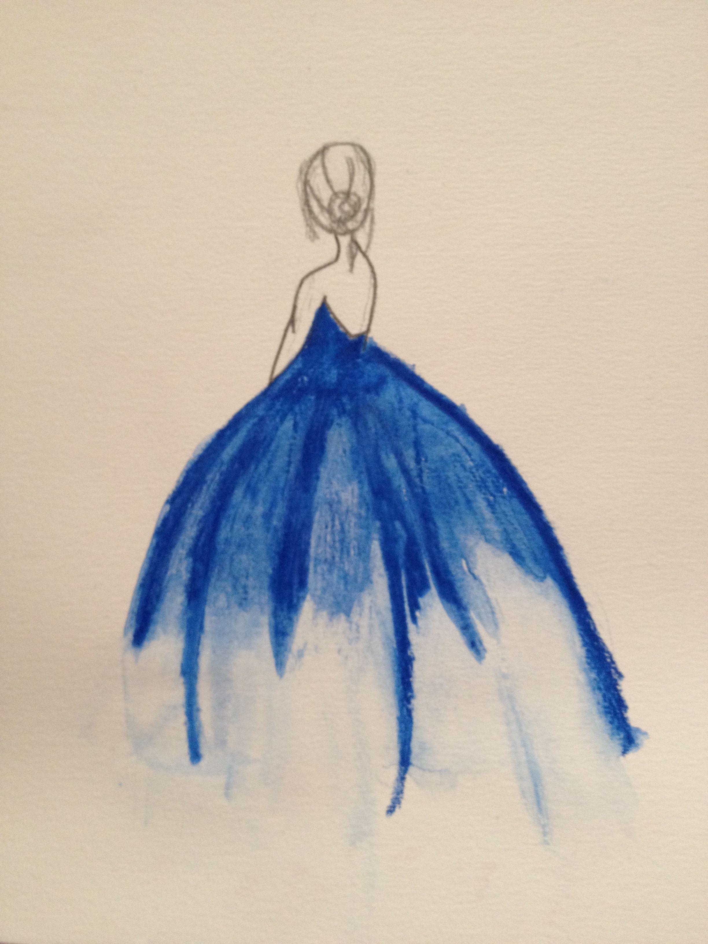 Aquarell Kleid Menschen Malen Selber Malen Und Acrylbilder