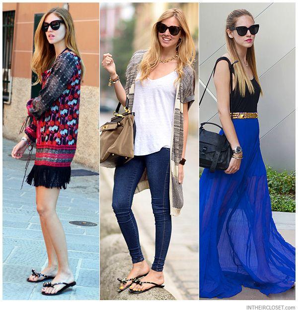 20e734992b7ec Chiara Ferragni wears Valentino rockstud PVC flip flop, it'a sunny day!!  Order your VALENTINO sandal on www.lindelepalais.com