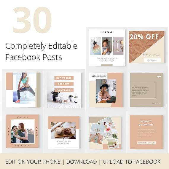 Facebook Post Templates | Social Media Content | S
