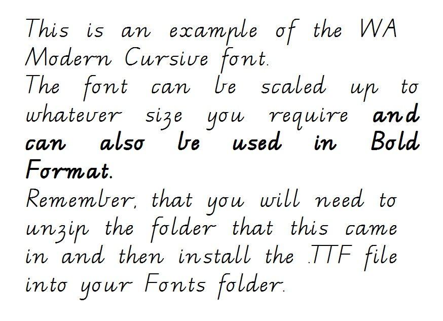 Wa Modern Cursive Handwriting Font Ready To Download And