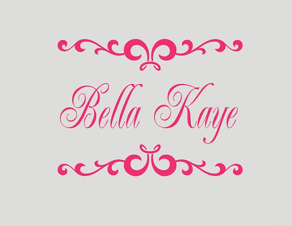 Girl Name Scroll Wall Decal  Personalized Kids by LCvinyldesigns, $20.00