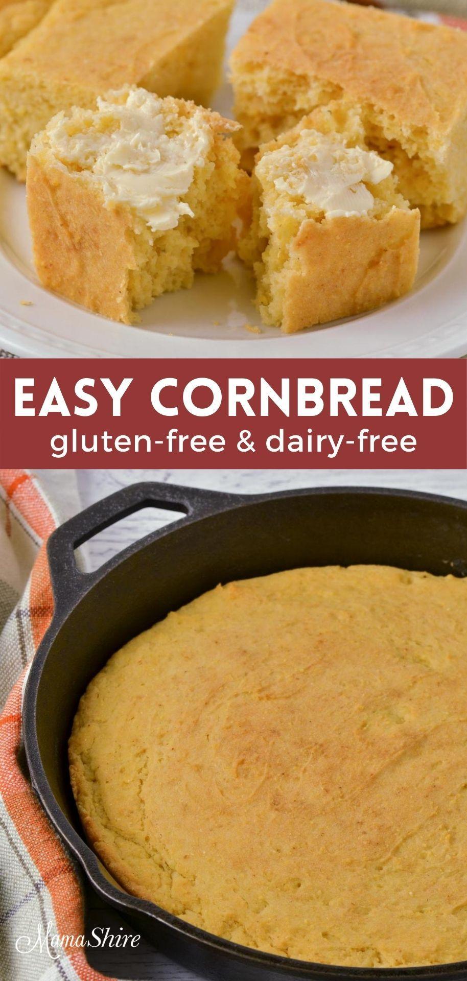The Best Gluten Free Cornbread Recipe Dairy Free Mamashire Recipe In 2020 Gluten Free Cornbread Gluten Free Cornbread Recipe Dairy Free Recipes