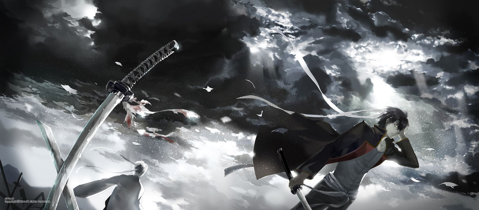 Gintoki Takasugi 高杉晋助 銀魂 イラスト 四天王