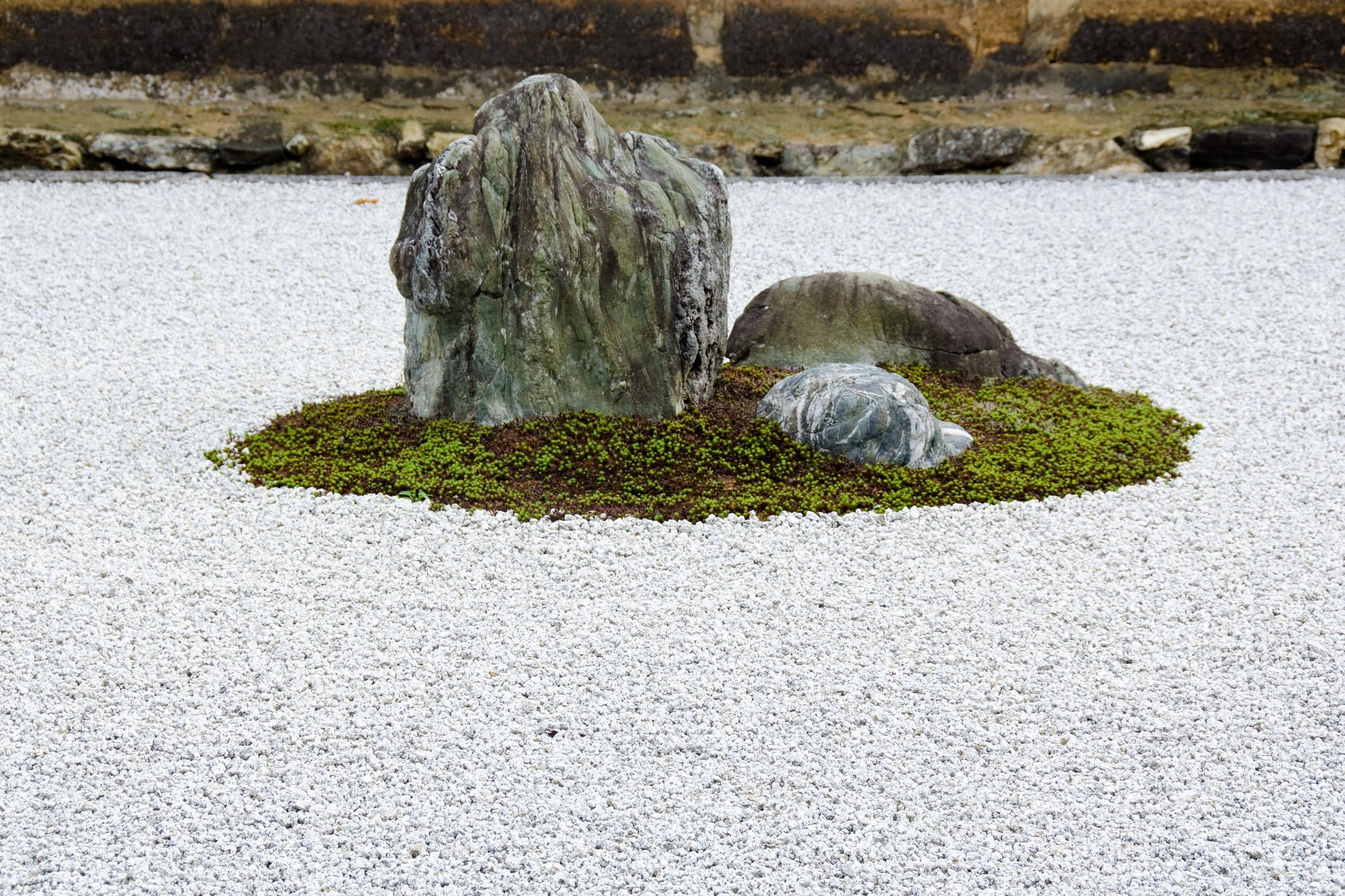 Zen Stone Garden At Ryoanji Temple Kyoto By Andreas Altenburger