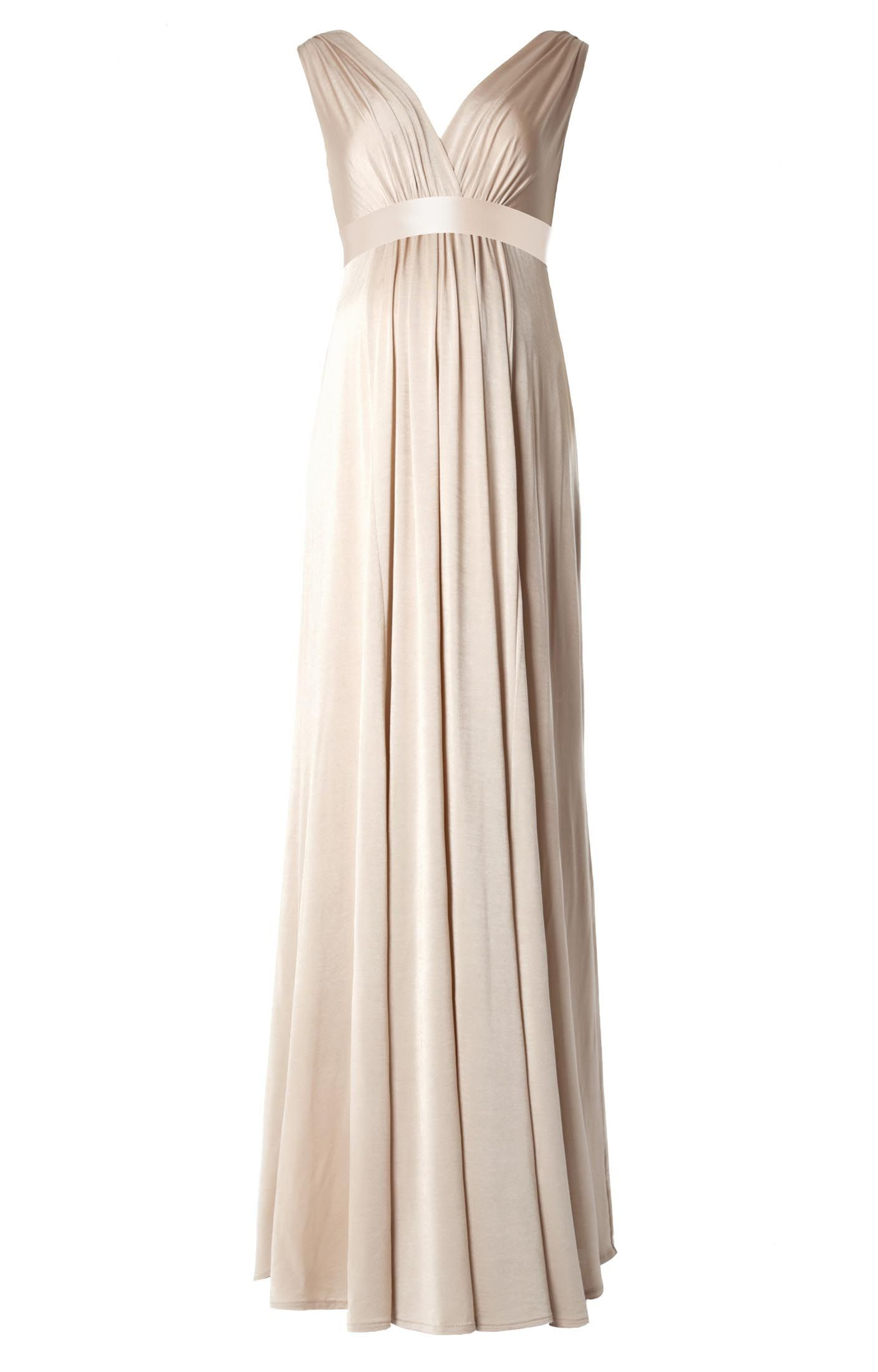 Anastasia maternity gown gold dust by tiffany rose maternity