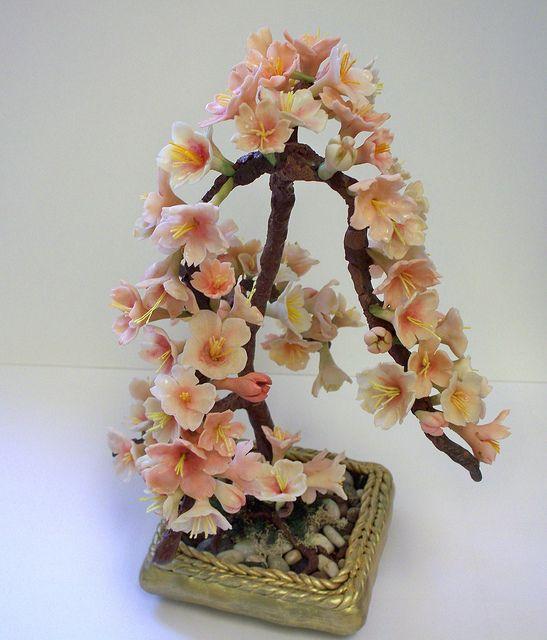 Cherry Blossom Bonsai Tree Air Dry Clay Cherry Blossom Bonsai Tree Bonsai Tree Persian Silk Tree