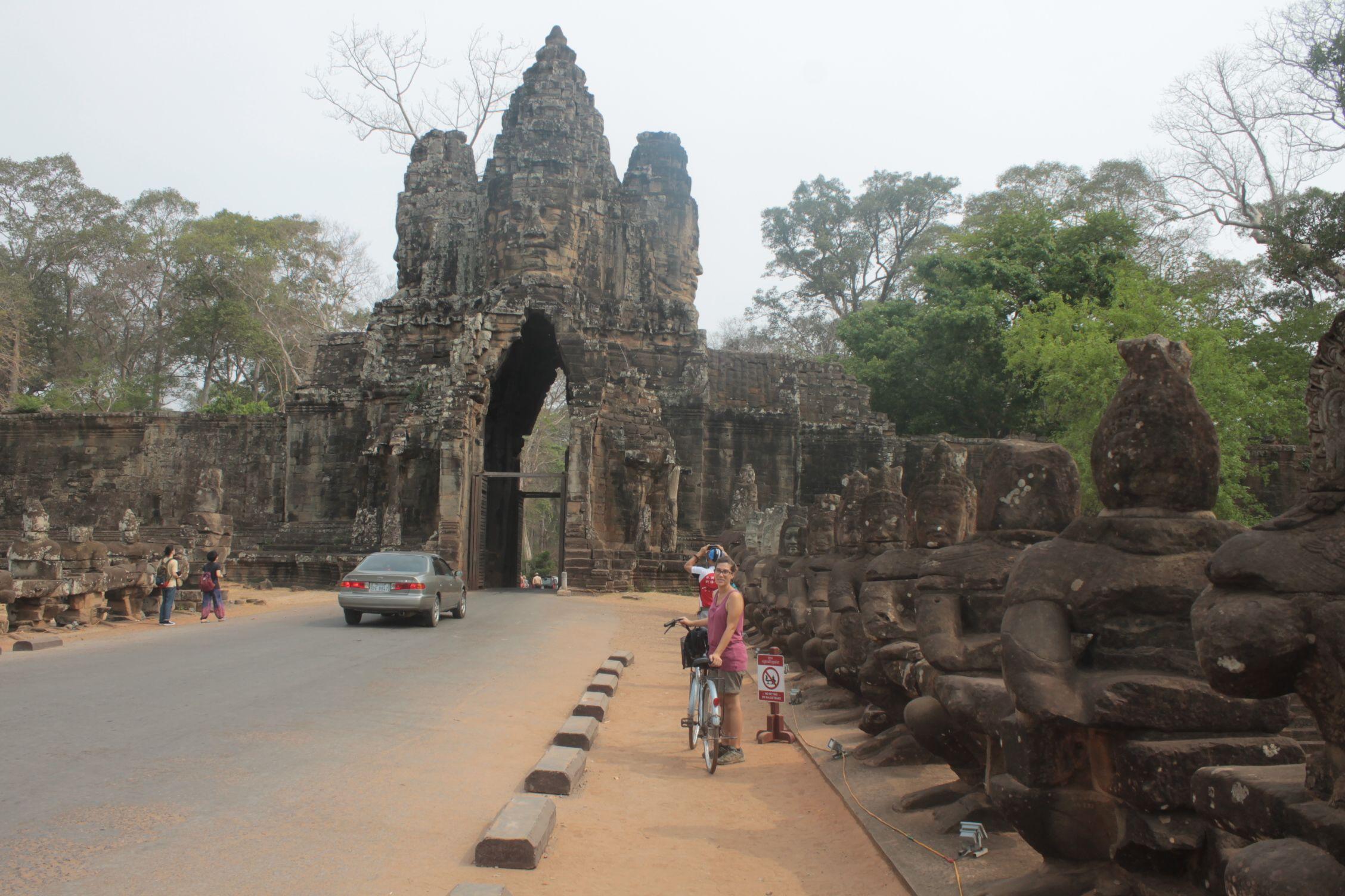 Entrada a Angkor Thom, el complejo más grande