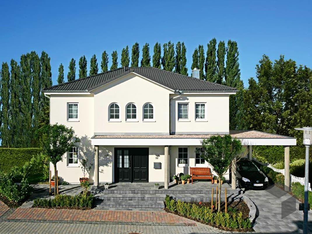 Stadtvilla mediterran dachterrasse  Stadtvilla Winter • Mediterranes Haus von Fertighaus WEISS ...