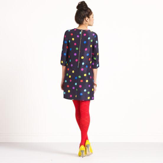 love the exposed zipper x polka dots