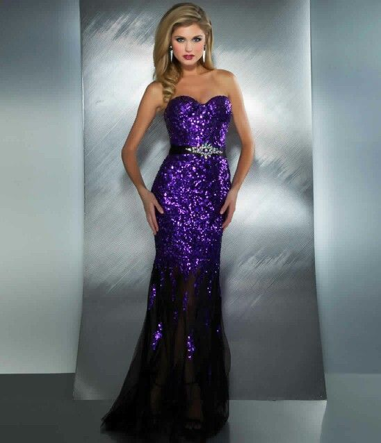 Purple Sparkle Prom Dresscould Be Pretty For An Lsu Tigers Prom