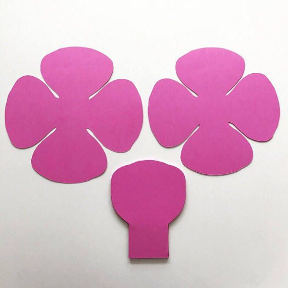 paper flowers svg small rose petal template digital version 7 to