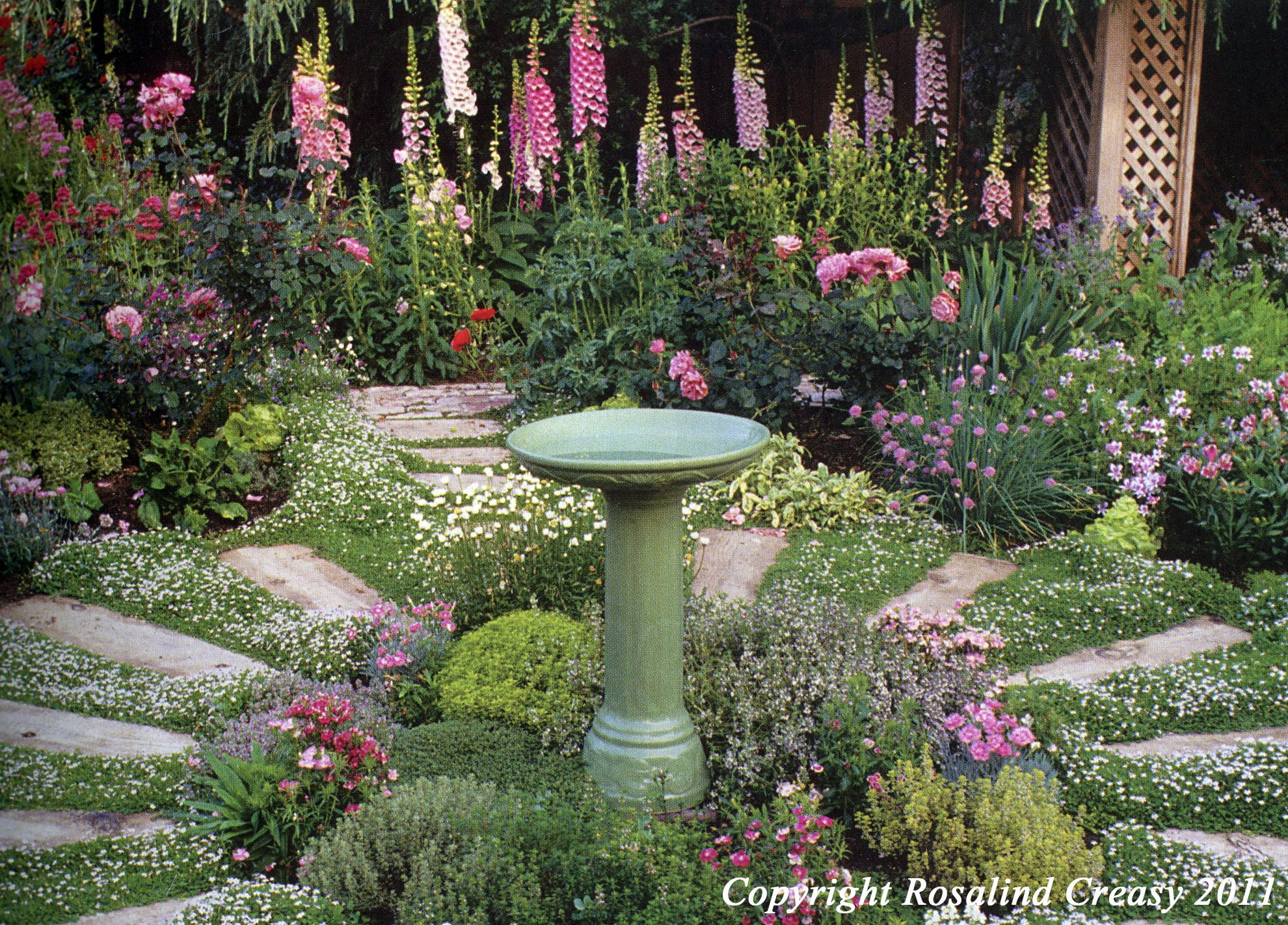 Landscaping With Herbs : Herbs garden flowers paths front gardens edible
