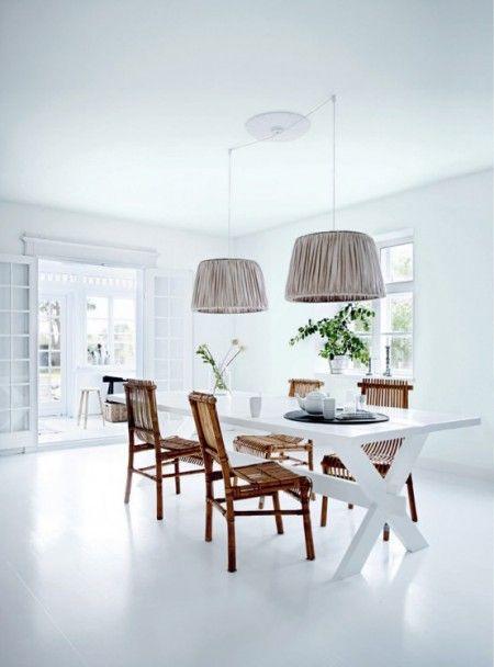 white cross leg dining table