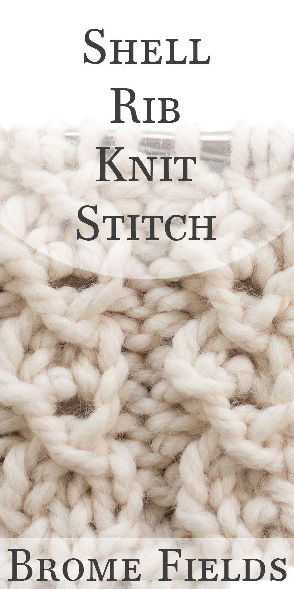Video Tutorial: How to Knit the Shell Rib Knit Stitch | Knit Stitch ...