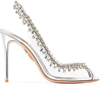 28c5dce124d Sexy, clear heel with rhinestones, peep toe. Stunning | Shoes in ...