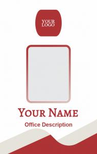 ID Card Karyawan Merah  ID Card Design  Cards, Design