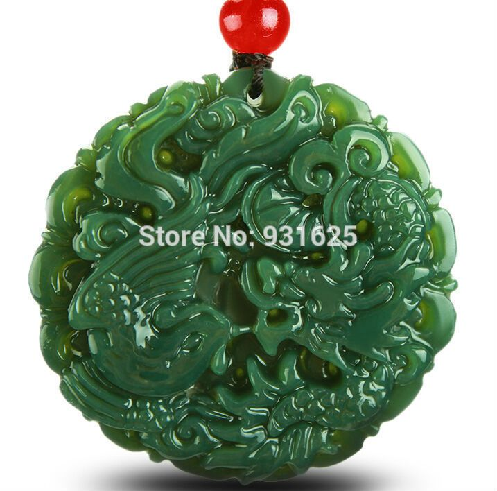 Classic natural real hetian jade carved dragon phoenix lucky classic natural real hetian jade carved dragon phoenix lucky pendants amulet jade pendant necklace fashion jewelry aloadofball Gallery