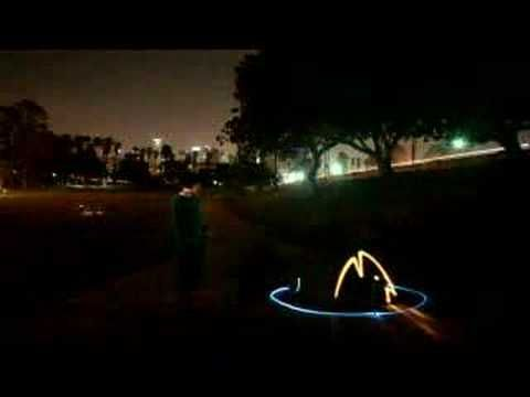 Light painting/graffiti in a Sprint commercial.