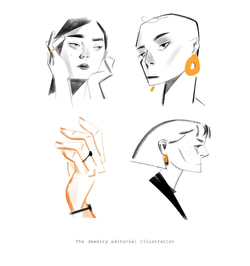 Photo of Jewelry editorial illustration