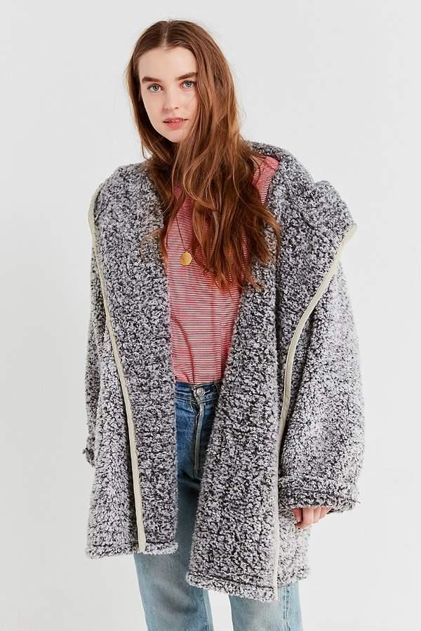 7961e8c80 Urban Outfitters UO Shaila Oversized Fuzzy Jacket
