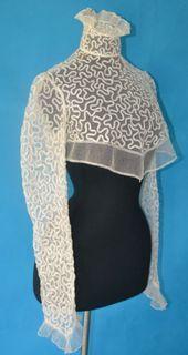 antique 1800's victorian net lace dress bodice corset