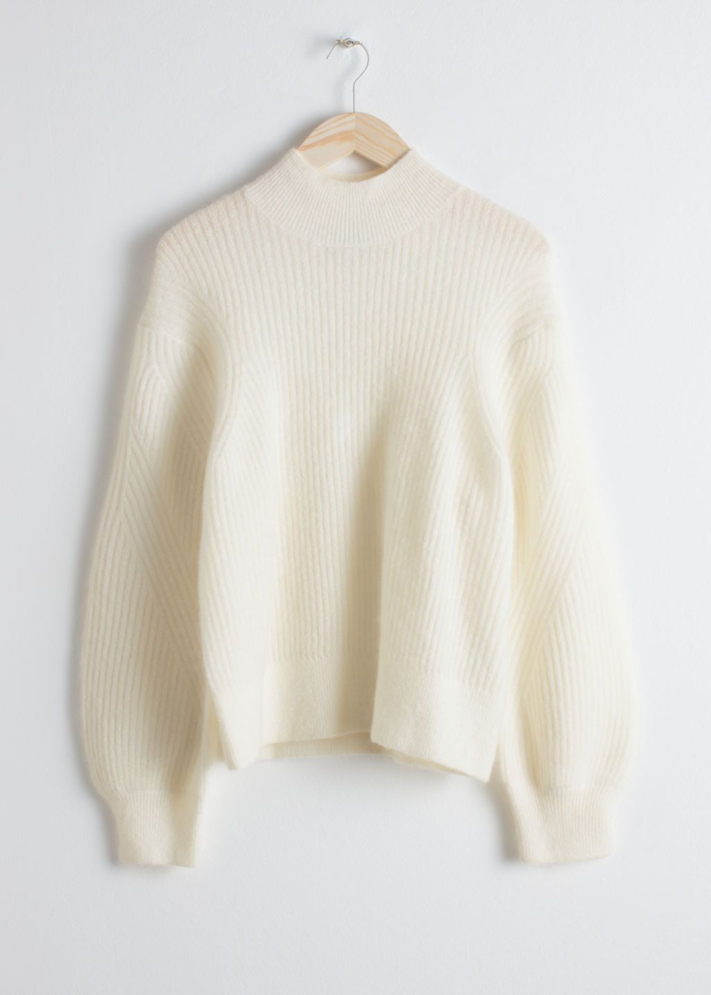 4e644604ad Wool Blend Cable Knit Sweater - Cream - Sweaters -   Other Stories