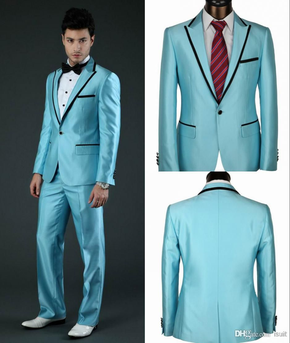 Blue Prom Tuxedos | Blue | Pinterest | Prom tuxedo, Tuxedos and Prom