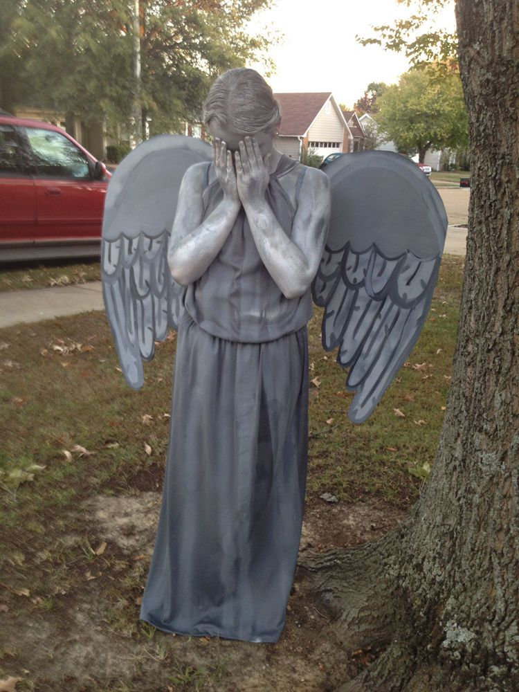 doctor who weeping angel statue costume handmade inspired dress dr who s m l handmade dress
