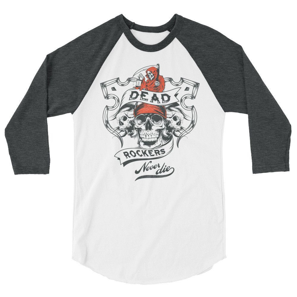 Dead Rockers 3/4 sleeve raglan shirt
