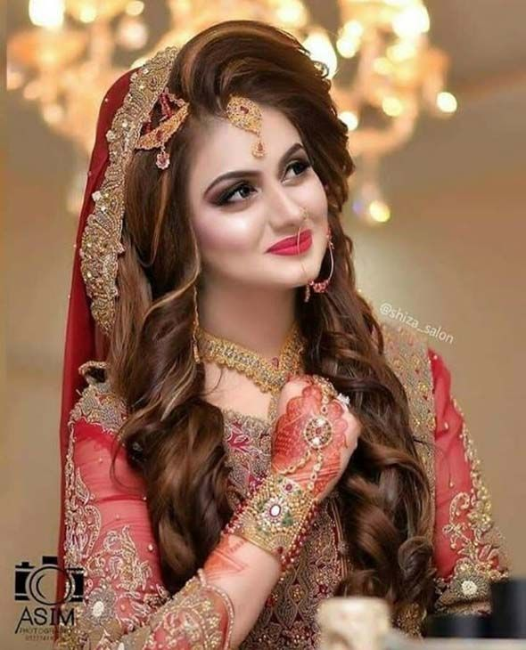 Bridal Makeover And Hairstyle Fashion 2019 Pakistani Bridal Hairstyles Pakistani Bridal Makeup Bridal Makeover