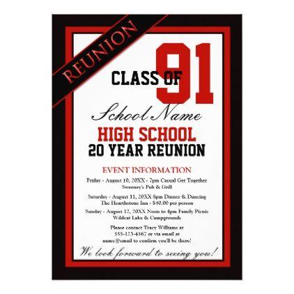 Classy Formal High School Reunion Card School reunion, Vintage diy - invitation non formal