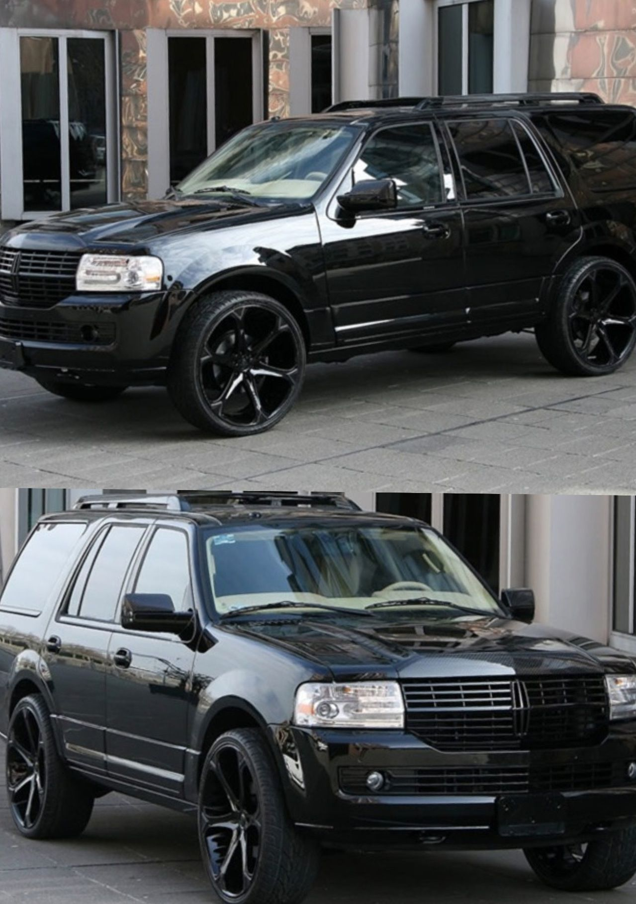 Lincoln navigator because they needed a family of 5 car