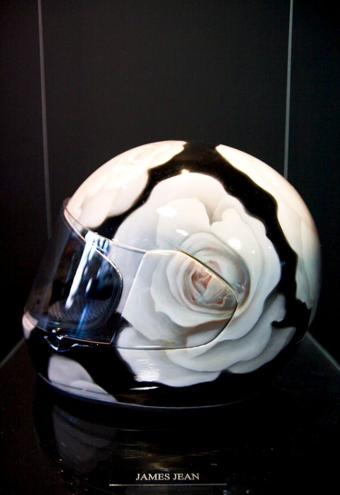 James Jean White Roses Helmet 2010 Pieces From The Grand Scheme