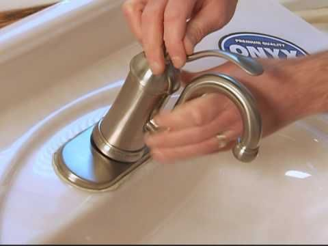 video showing how to change bathroom sink faucet | Home Improvement ...