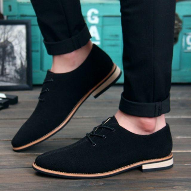 NPEZKGC hombres Oxford zapatos spingotoño gamuza cuero