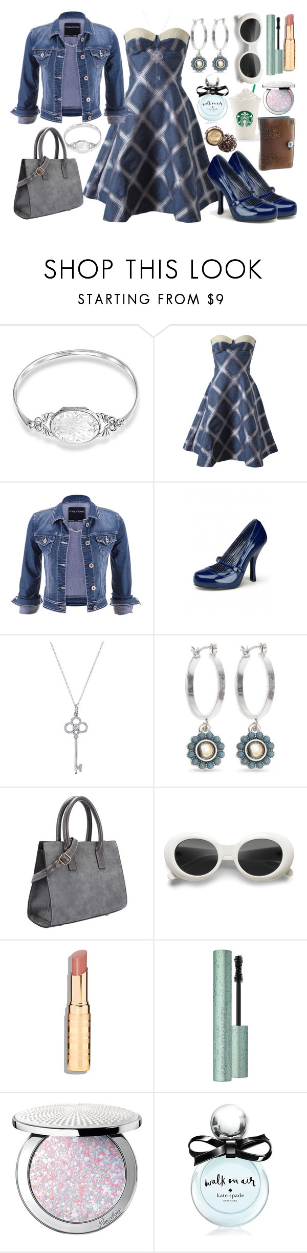 """""""Phoenix #4"""" by travelcutie ❤ liked on Polyvore featuring Bling Jewelry, House of Holland, maurices, Pinup Couture, Tiffany & Co., Vintage America, Guerlain and Kate Spade"""