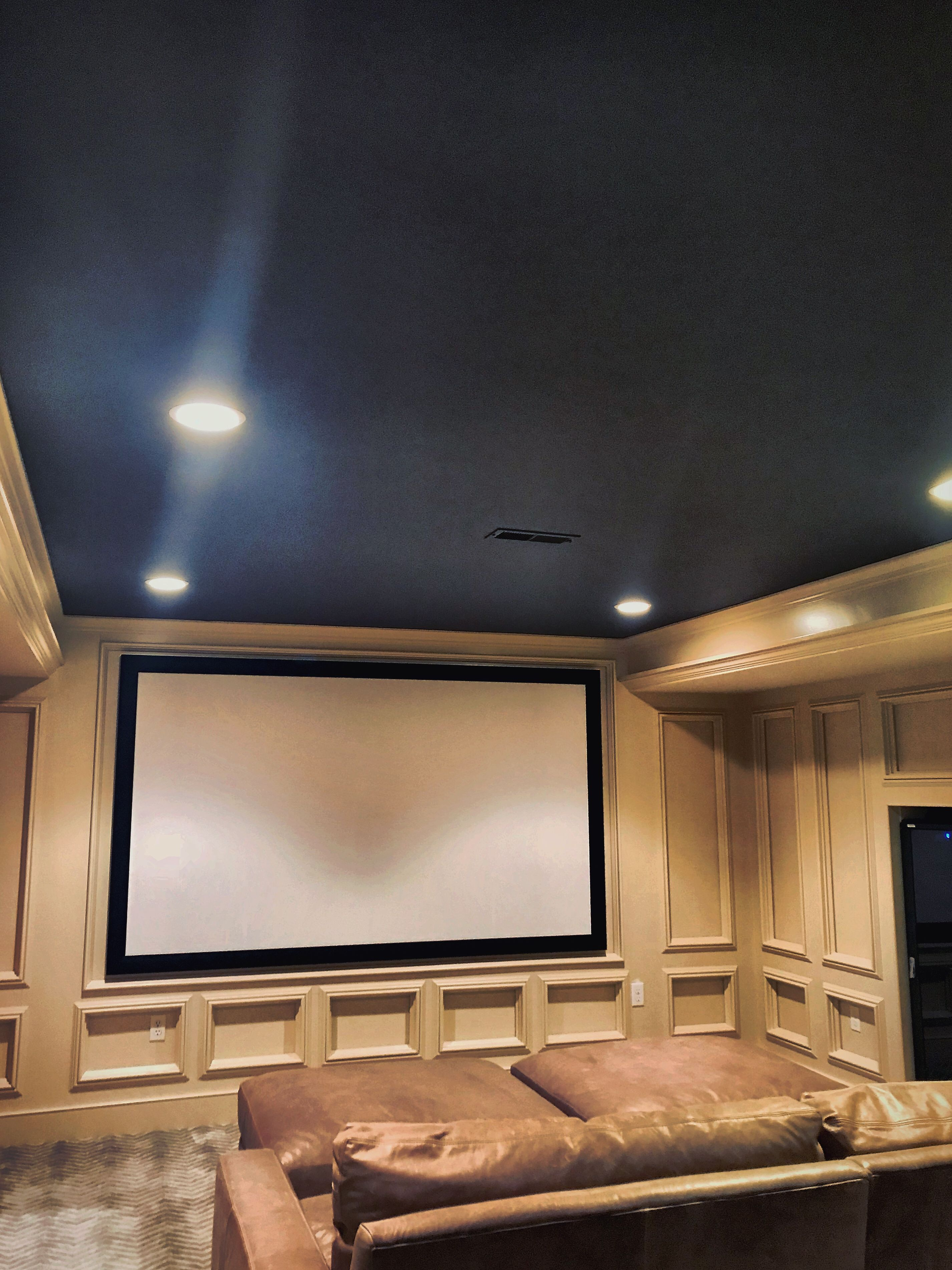 Media Room Done In Hingham