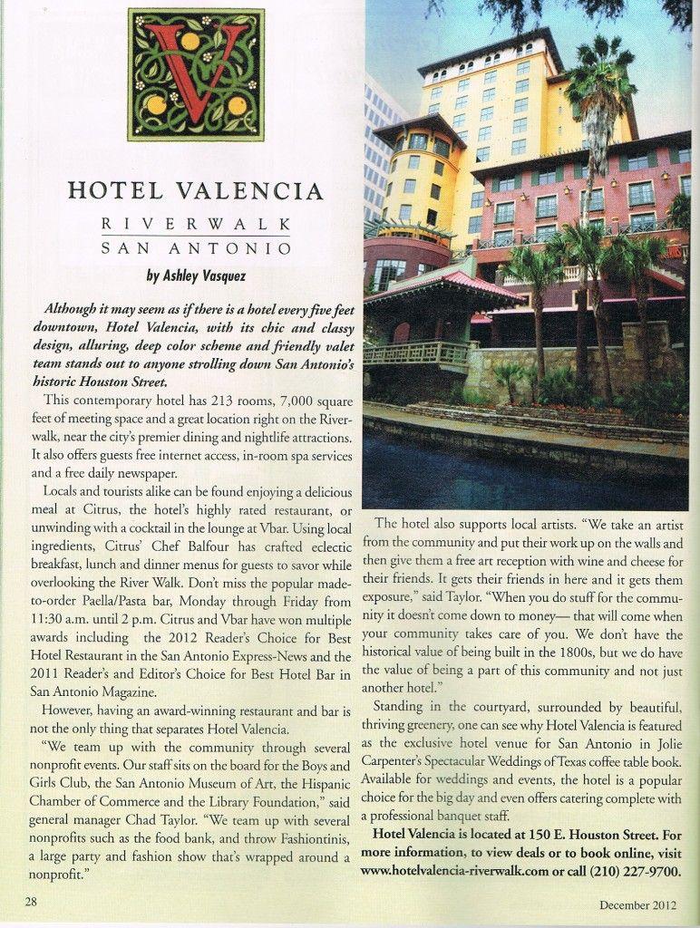 Hotel Valencia San Antonio Tx By Ashley Vasquez Published In