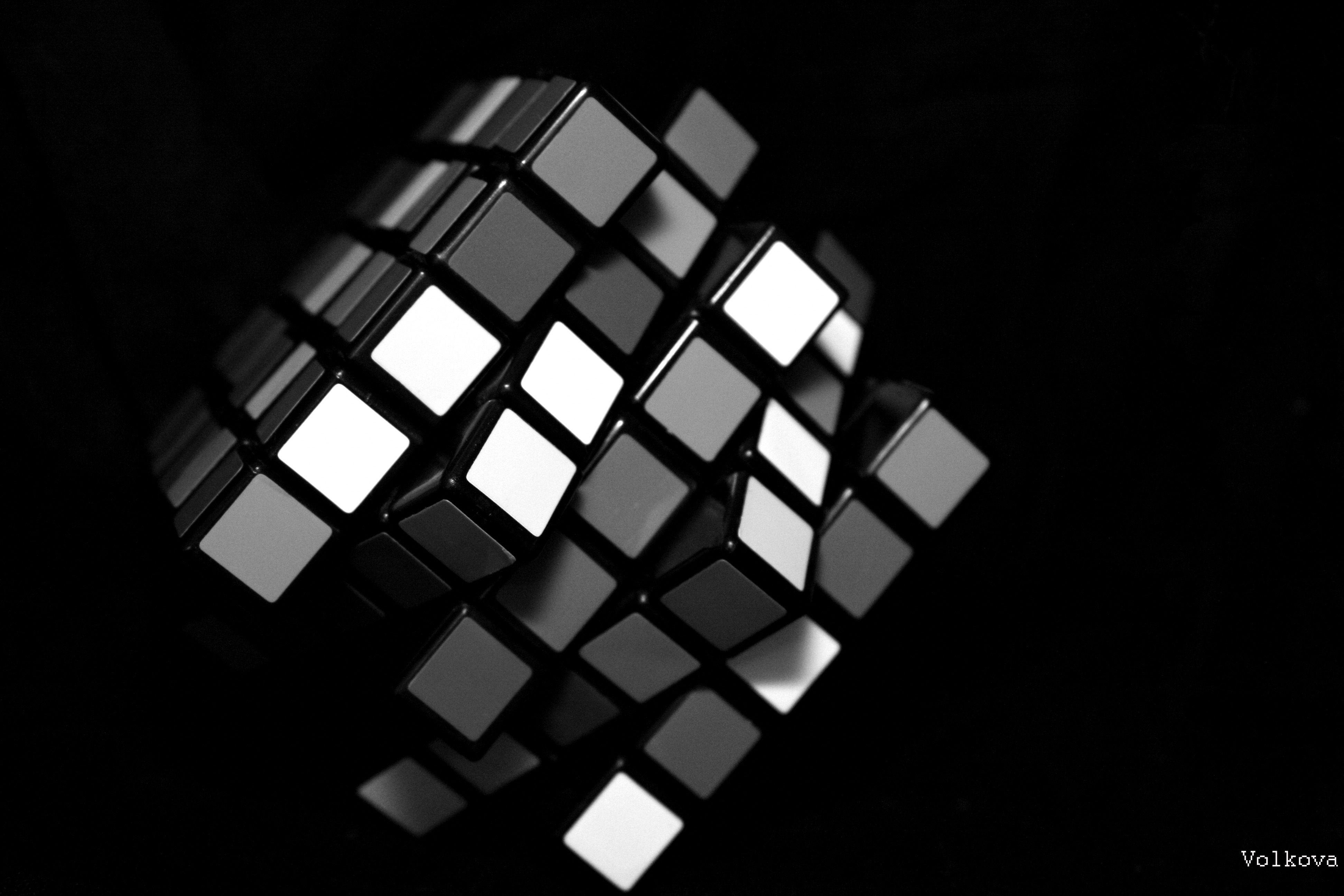 Rubik Cube 3d Cube Wallpaper Cube White Wallpaper