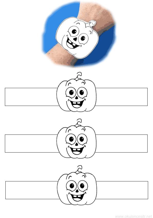 Pumpkin Bracelet Pattern |  PreschoolTR Preschool