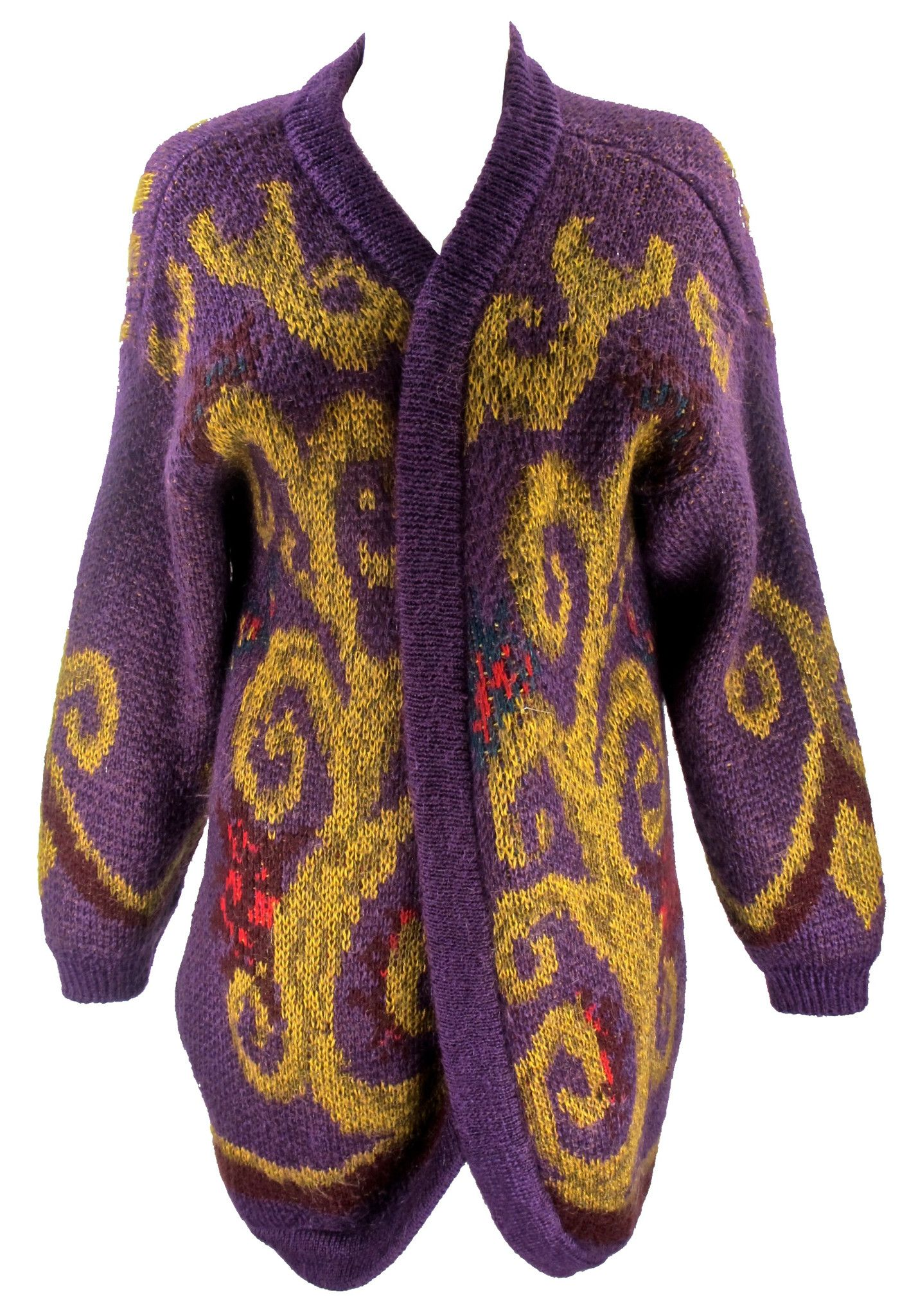I found this Vintage 1980'S Purple Mohair Cardigan on www ...