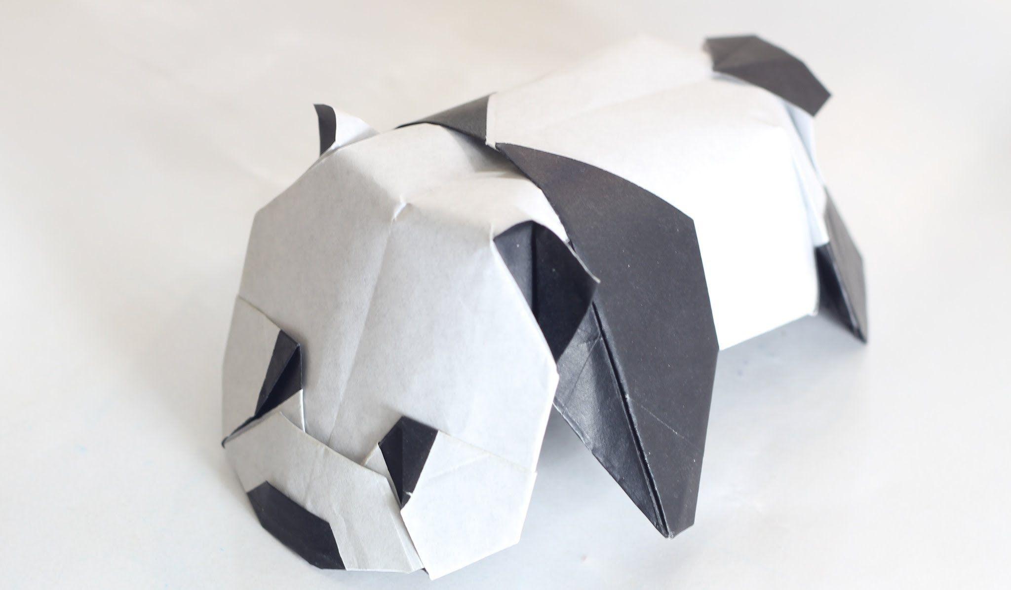 origami panda baby panda by jacky chan tutorial