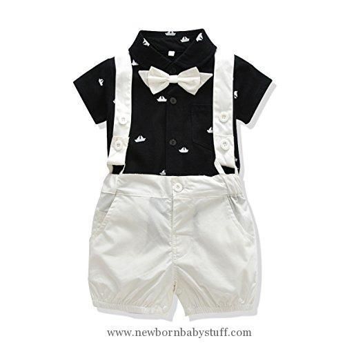 4f235008af5 Baby Boy Clothes Ferenyi US Baby Boys Bowtie Gentleman Romper Jumpsuit  Overalls Rompers (13-18 months