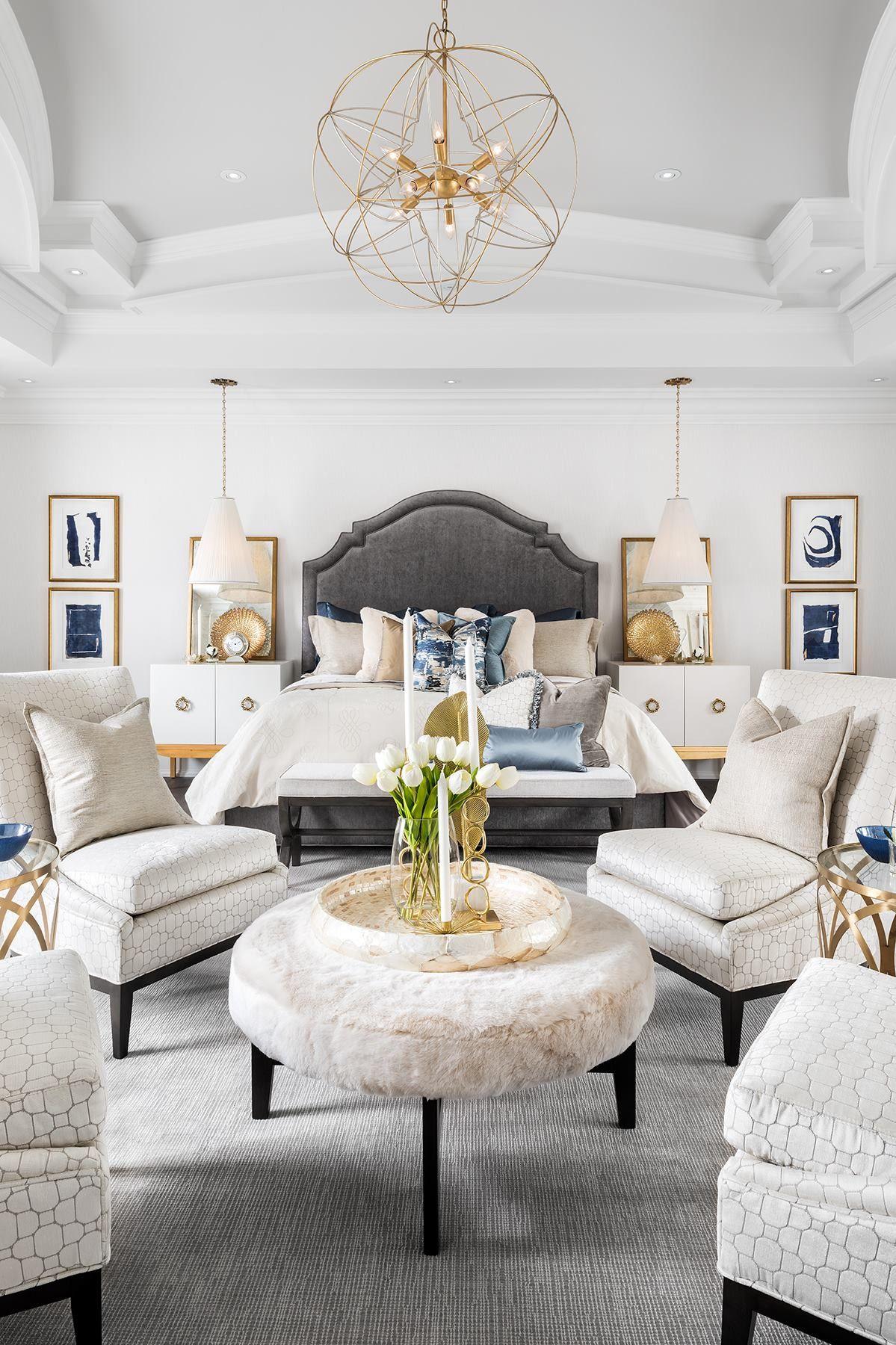 neutral bedroom design scheme presenting large   Beautiful! neutral pallet, monochromatic color scheme ...