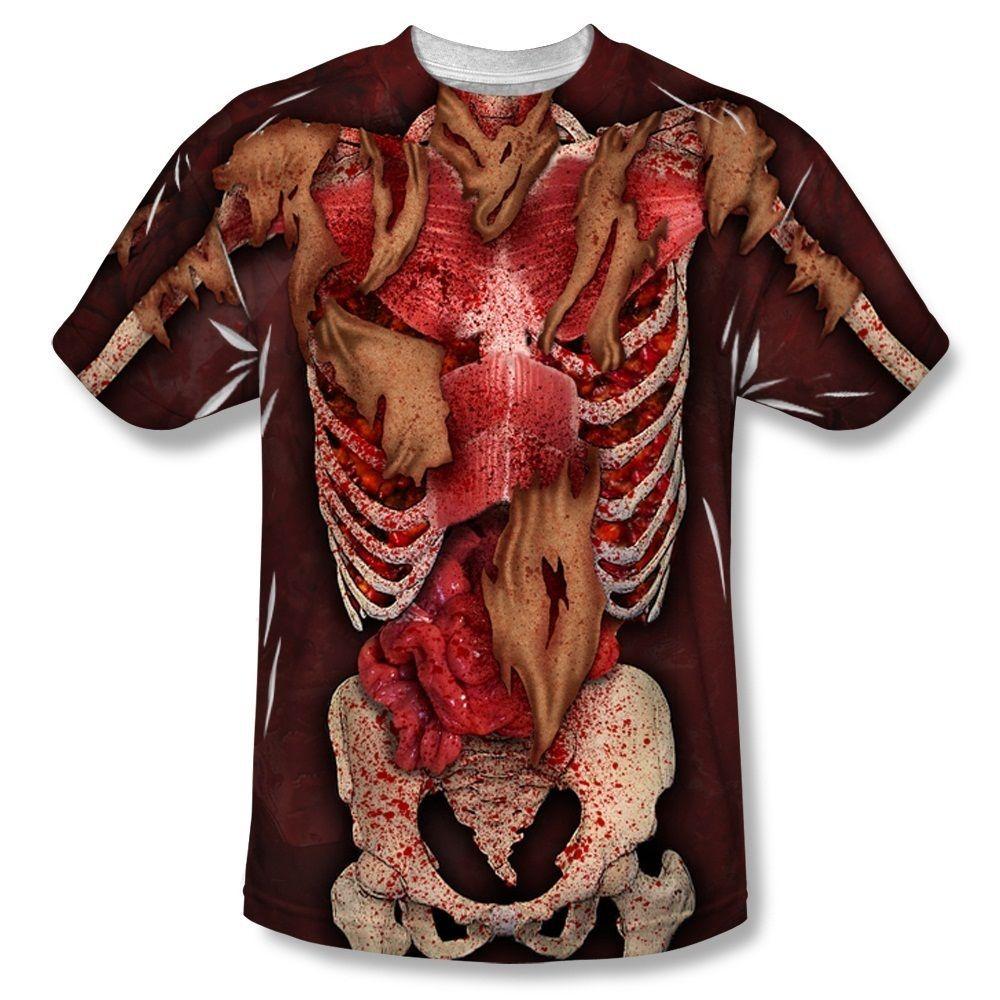 Skeleton Costume Halloween Sublimation Licensed Adult T Shirt