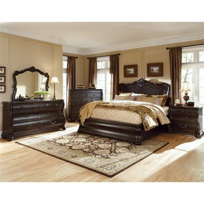 ART Furniture LeGrand Panel Bed Set with Bachelor\u0027s Chest