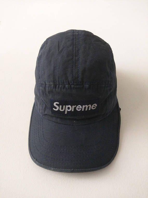 ea47d48a401 Vintage 90s Supreme 5 Panels Camp cap