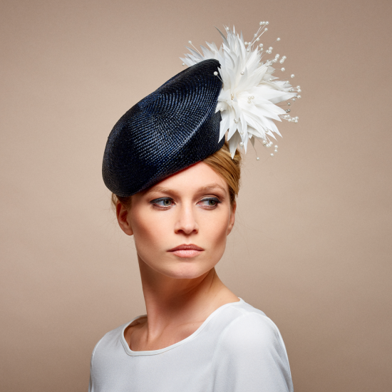 New Large Headband Hat Feathers Fascinator Weddings Cocktails Royal Ascot Races