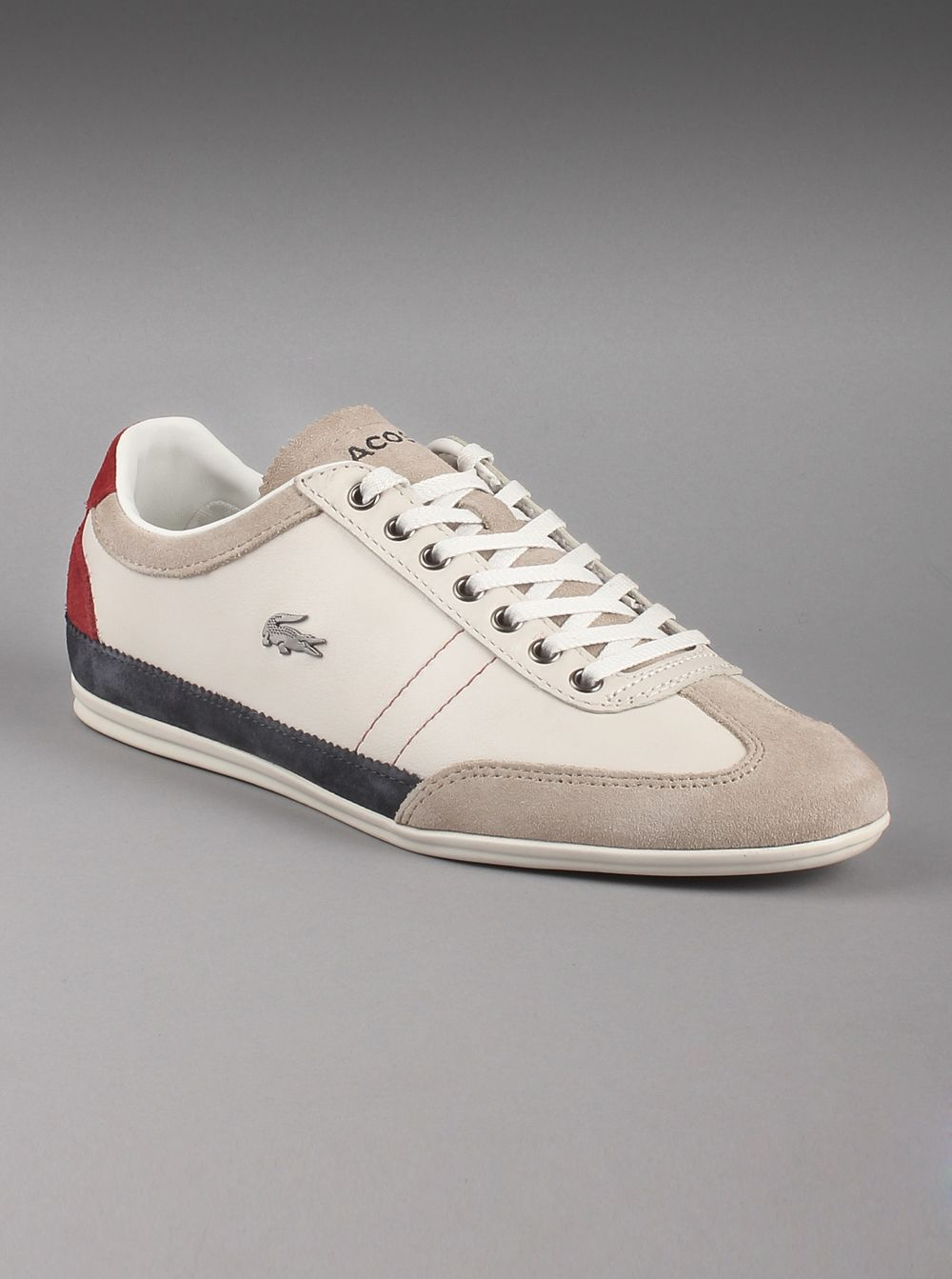 fe8de39bbb92 Lacoste® Men s Misano 15 SRM Leather Sneakers in White. Sporty and athletic  low-
