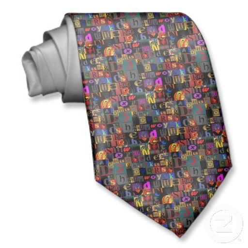 Easy as ABC Neck Tie $30.65